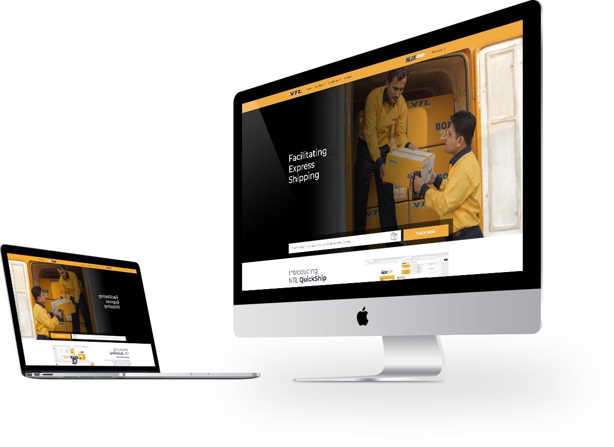 NTL Homepage Website Design